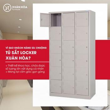 Tủ sắt nhiều ngăn phổ biến hiện nay - tủ locker xuân hòa