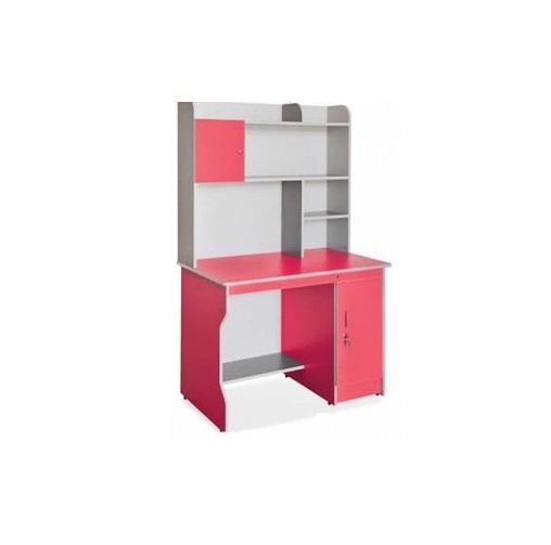 BHS1308 | Bàn học sinh liền giá sách BHS-13-08 màu hồng