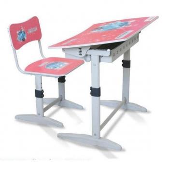 Bộ bàn ghế học sinh tiểu học BHS-14-07 màu hồng